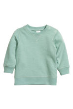 Sweatshirt - Mint green - Kids | H&M CN 1
