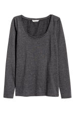Jersey top - Dark grey marl - Ladies | H&M 1