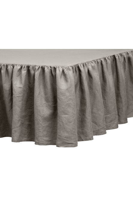 Washed linen valance