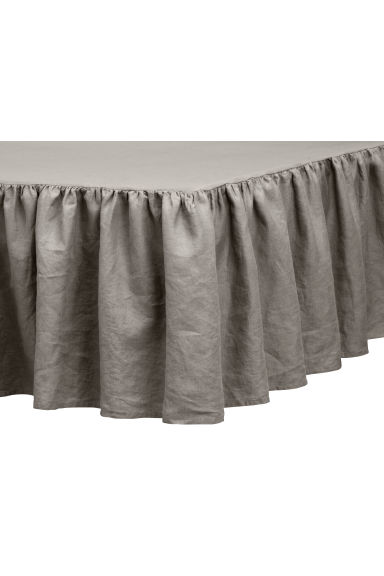 Washed linen valance - Dark grey -  | H&M CA