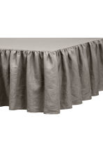 Washed linen valance - Dark grey - Home All | H&M CA 1