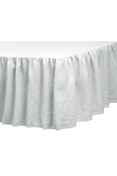 Washed linen valance - Light grey - Home All | H&M CA