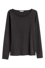 Top in pima cotton - Black - Ladies | H&M CN 2