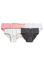 5-pack briefs - Dark grey/Spotted - Kids | H&M CN 1