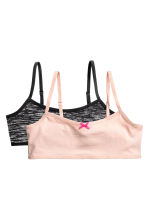 2-pack crop tops - Powder pink -  | H&M CA 1