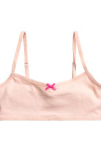 2-pack crop tops - Powder pink -  | H&M CA 3