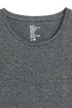 T-shirt girocollo Slim fit - Grigio scuro mélange - UOMO | H&M IT 3