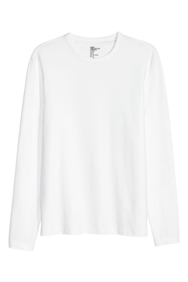 T-shirt Slim fit - Blanc - HOMME | H&M FR
