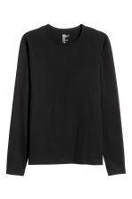 Long-sleeved T-shirt Slim fit - Black - Men | H&M CN 3