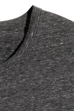Long-sleeved T-shirt Slim fit - Dark grey marl - Men | H&M CN 3