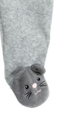Velour pyjamas - Grey/Rabbit - Kids | H&M CN 2