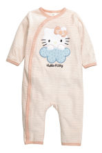 Velour all-in-one pyjamas - Powder pink/Hello Kitty - Kids | H&M CN 1