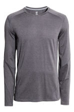 Sports top - Dark grey marl - Men | H&M IE 2