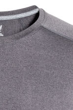 Sports top - Dark grey marl - Men | H&M CN 3