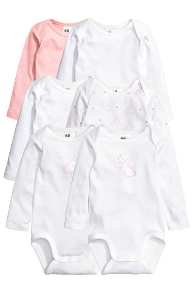 6-pack bodysuits - Light pink - Kids | H&M CN
