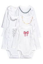 6-pack bodysuits - White/Bow - Kids | H&M CN 1