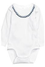 6-pack bodysuits - White/Bow - Kids | H&M CN 2