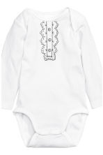 6-pack bodysuits - White/Bow - Kids | H&M CN 4