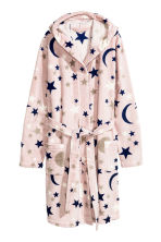 Fleece dressing gown - Pink/Stars -  | H&M GB 2