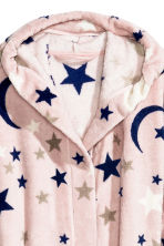 Fleece dressing gown - Pink/Stars -  | H&M GB 3