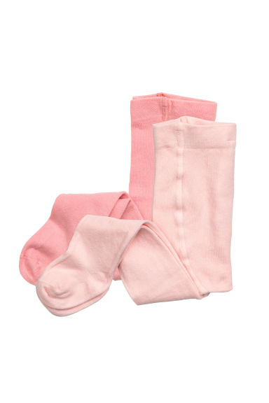 2-pack tights - Light pink - Kids | H&M CN