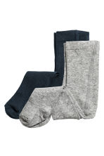 2-pack tights - Dark blue - Kids | H&M CN 1