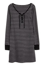 Jersey nightdress - Black/Striped - Ladies | H&M CN 2