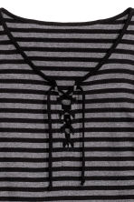 Jersey nightdress - Black/Striped - Ladies | H&M CN 3