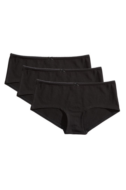 3-pack cotton shorts