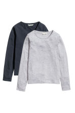 2-pack tops - Grey - Kids | H&M 2