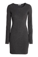 Short jersey dress - Dark grey marl - Ladies | H&M CN 2