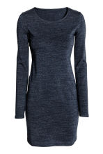 Short jersey dress - Dark blue marl - Ladies | H&M CN 2