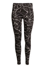 Jersey leggings - Black/Marble - Ladies | H&M CN 2