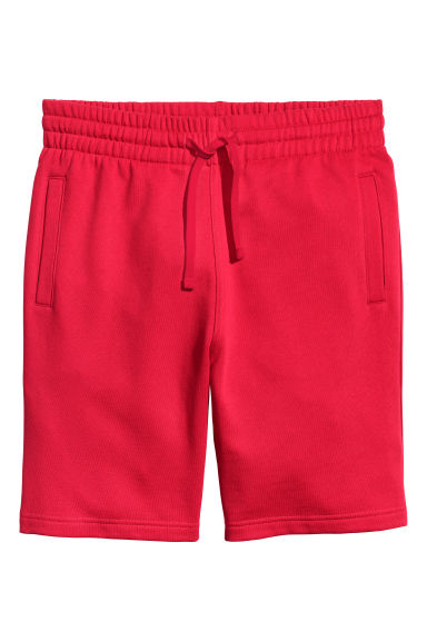 Sweatshirt shorts - Red - Men | H&M CN 1