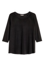 HM+ Top with raglan sleeves - Black - Ladies | H&M 2