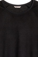HM+ Top with raglan sleeves - Black - Ladies | H&M 3