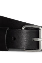 Leather belt - Black - Ladies | H&M CN 5