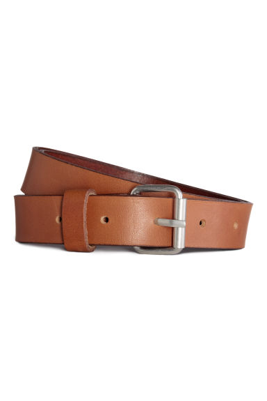 Leather belt - Light brown - Ladies | H&M CN 1