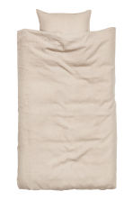 Washed linen duvet cover set - Linen beige - Home All | H&M CN 2