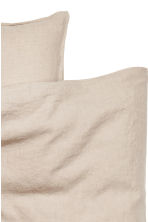 Washed linen duvet cover set - Linen beige - Home All | H&M CN 3