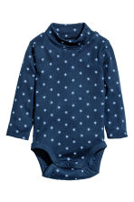 Polo-neck bodysuit - Dark blue/Stars -  | H&M CN 1