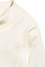 Polo-neck bodysuit - Natural white -  | H&M CN 2