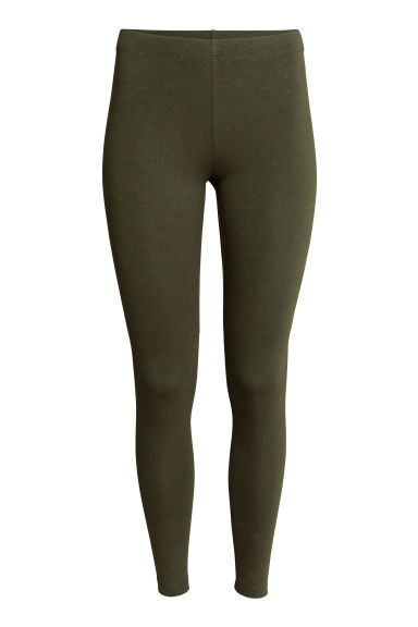 Jersey leggings - Dark green - Ladies | H&M CN 1