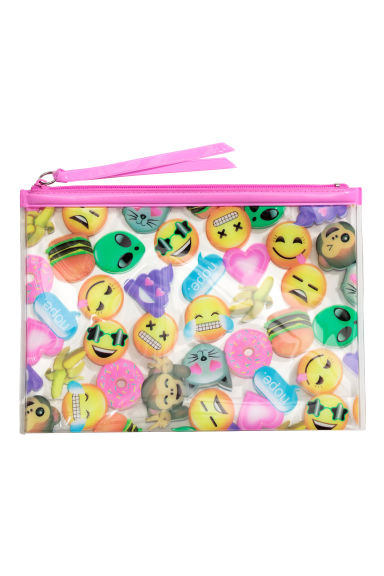Make-up bag - Pink/Emoji - Ladies | H&M CN 1