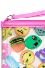 Make-up bag - Pink/Emoji - Ladies | H&M CN 2