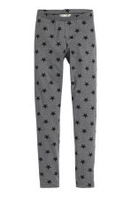 Jersey leggings - Dark grey/Stars - Kids | H&M CN 2
