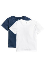 2-pack T-shirts - Dark blue - Kids | H&M CN 2