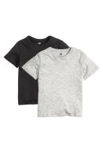 2-pack T-shirts - Black -  | H&M 2