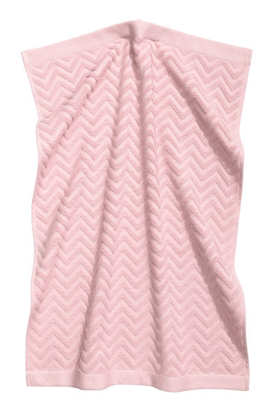 Jacquard-patterned hand towel - Light pink - Home All | H&M CN 1