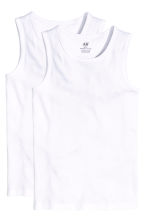 2-pack vest tops - White - Kids | H&M CA 2